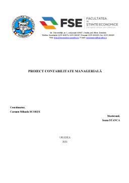 Referat - Contabilitate managerială SC Dumicon SRL
