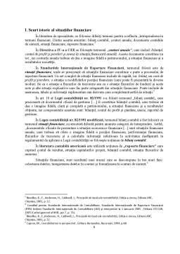 Referat - Analiza structurii situatiilor financiare potrivit reglementarilor contabile românești