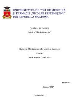 Referat - Medicamente chinolonice