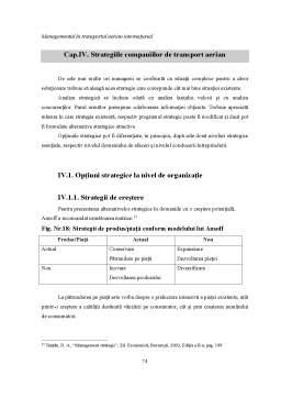 Proiect - Managementul în Transportul Aerian Internațional