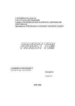 Proiect - Proiectarea Procesului Tehnologic de Prelucrare al Reperului H.S.65
