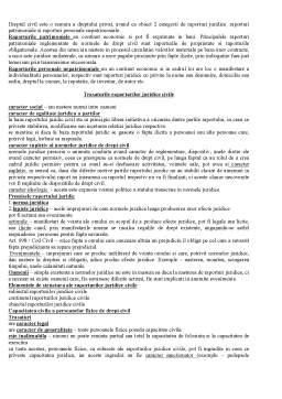 Notiță - Trasaturile raporturilor juridice civile
