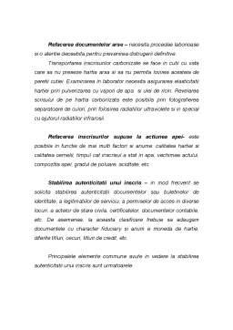 Curs - Cercetarea Criminalistica a Inscrisurilor, a Scrisului, a Falsului in inscrisuri si a altor categorii de falsuri
