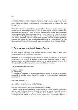Seminar - Asamblorul inline Borland Pascal