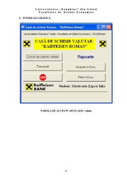 Proiect - Casa de Schimb Valutar - Raiffeisen Roman - Access