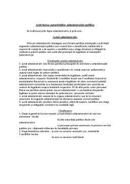 Curs - Sinteze Drept Administrativ