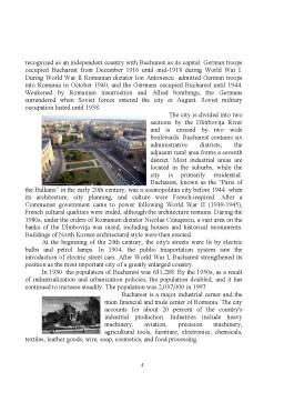 Referat - London and Bucharest