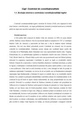 Referat - Controlul de Constitutionalitate al Legilor