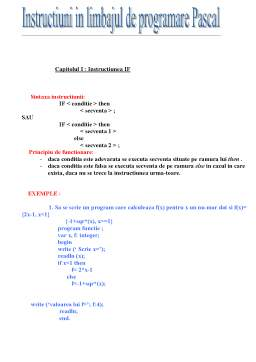 Referat - Limbajul Pascal