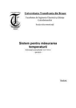 Proiect - Sistem Pentru Măsurarea Temperaturii