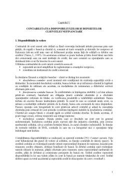 Curs - Capitolul V - Contabilitatea Disponibilitatilor si Depozitelor Clientelei Nefinanciare