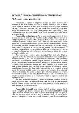 Curs - Tipologia Tranzacțiilor cu Titluri Primare