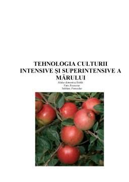 Referat - Tehnologia Culturii Intensive și Superintensive a Mărului