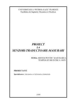 Proiect - Sistem de Masurarea Temperaturii