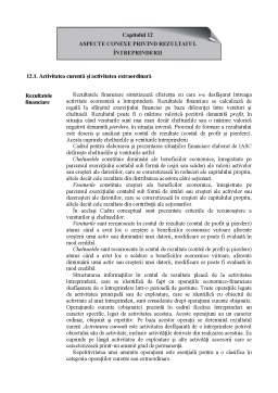 Curs - Aspecte Conexe privind Rezultatul Întreprinderii
