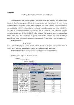 Referat - TCM - SPSS - One-Way Anova
