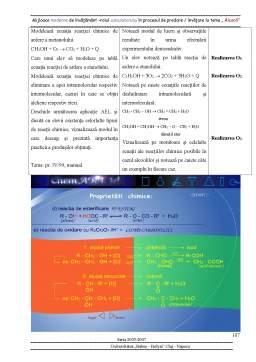 Proiect - Mijloace Moderne de Invatamant - Rolul Calculatorului in Procesul de Predare-Invatare la Tema Alcooli