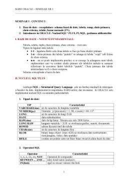 Seminar - Sisteme de Gestiune a Bazelor de Date