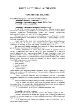 Curs - Drept Instituțional Comunitar