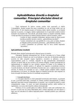 Referat - Caracteristicile Dreptului Comunitar