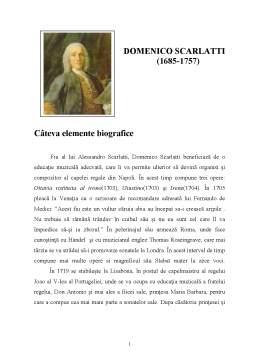 Referat - Domenico Scarlatti