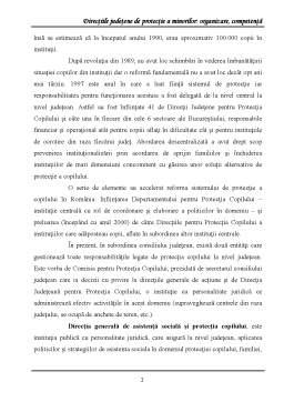 Referat - Directiile Judetene de Protectie a Minorilor Organizare, Competenta