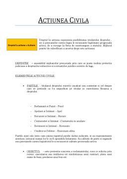 Curs - Procesual Civil - Actiunea Civila
