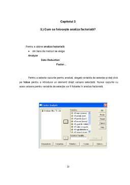 Proiect - Analiză factorială
