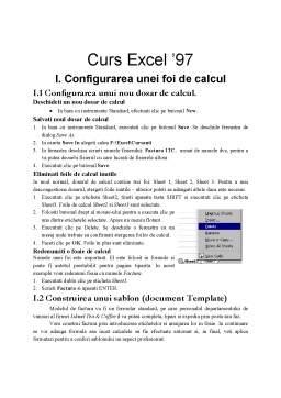 Curs - Curs Excel '97