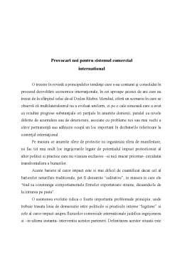 Referat - Provocari Noi pentru Sistemul Comercial International