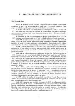 Proiect - Politici de Protectie a Mediului - Studiu Comparativ Romania-UE