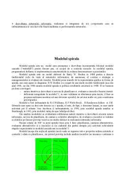 Proiect - Modele ale Ciclului de Viata a unui Sistem Informatic
