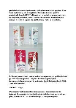 Proiect - Laptele de Consum - Cercetari privind Procesul Tehnologic si Eficienta Economica a Produselor de Origine Animala