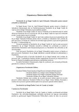Curs - Oraganizarea Sistemului Judiciar - Parchetele de pe langa Curtile de Apel, Tribunale si Tribunale Specializate