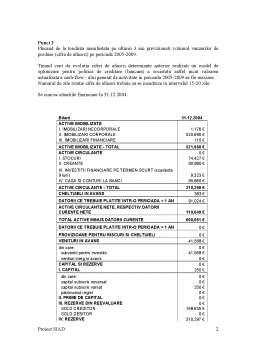 Proiect - Proiect Sisteme Informatice de Asistare a Deciziei