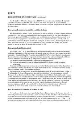Curs - Curs 5 - Prioritatile Exceptionale (Continuarea lui c4)