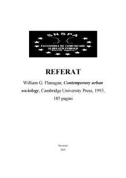 Proiect - Recenzie - Contemporary Urban Sociology