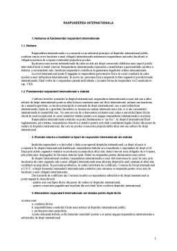 Curs - Raspunderea Internationala