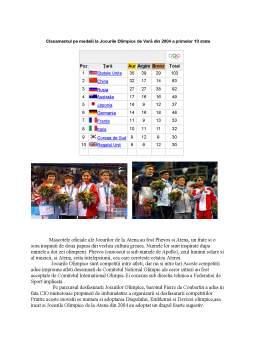 Referat - Jocurile Olimpice de Vara - Atena 2004