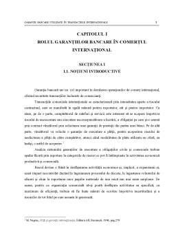 Proiect - Rolul Garantiilor in Comertul International