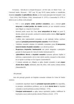 Referat - Principiile Dreptului European