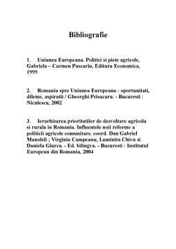 Referat - Politica Agricola Comuna