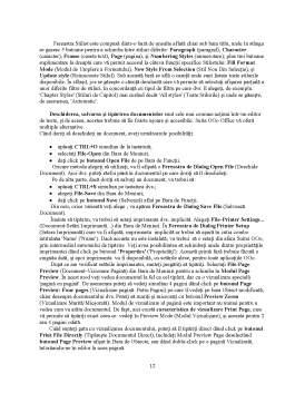 Referat - Utilizarea Procesorului de Texte Word din Microsoft Office