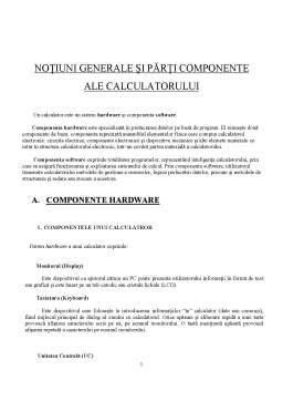 Referat - Notiuni Generale si Parti Componente ale Calculatorului Hardware & Software