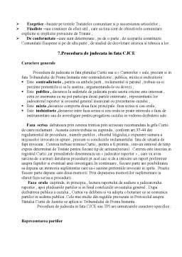 Proiect - Curtea de Justitie a Comunitatii Europene