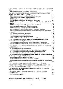 Proiect - Contabilitatea Circulației Mărfurilor la SC Niadal Abatex Company SRL