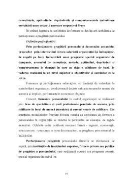 Proiect - Pregatire Profesionala - Formare Profesionala