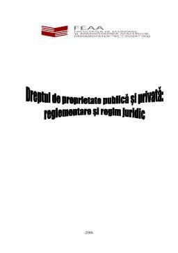 Referat - Dreptul la Proprietate Publica si Privata