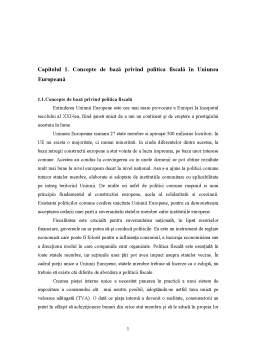 Referat - Politica Fiscala in Cadrul UE