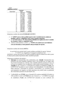 Seminar - Probleme Econometrie